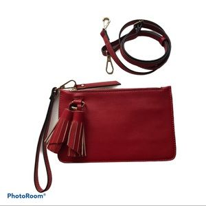 Melie  Bianco Red Convertible Crossbody Bag